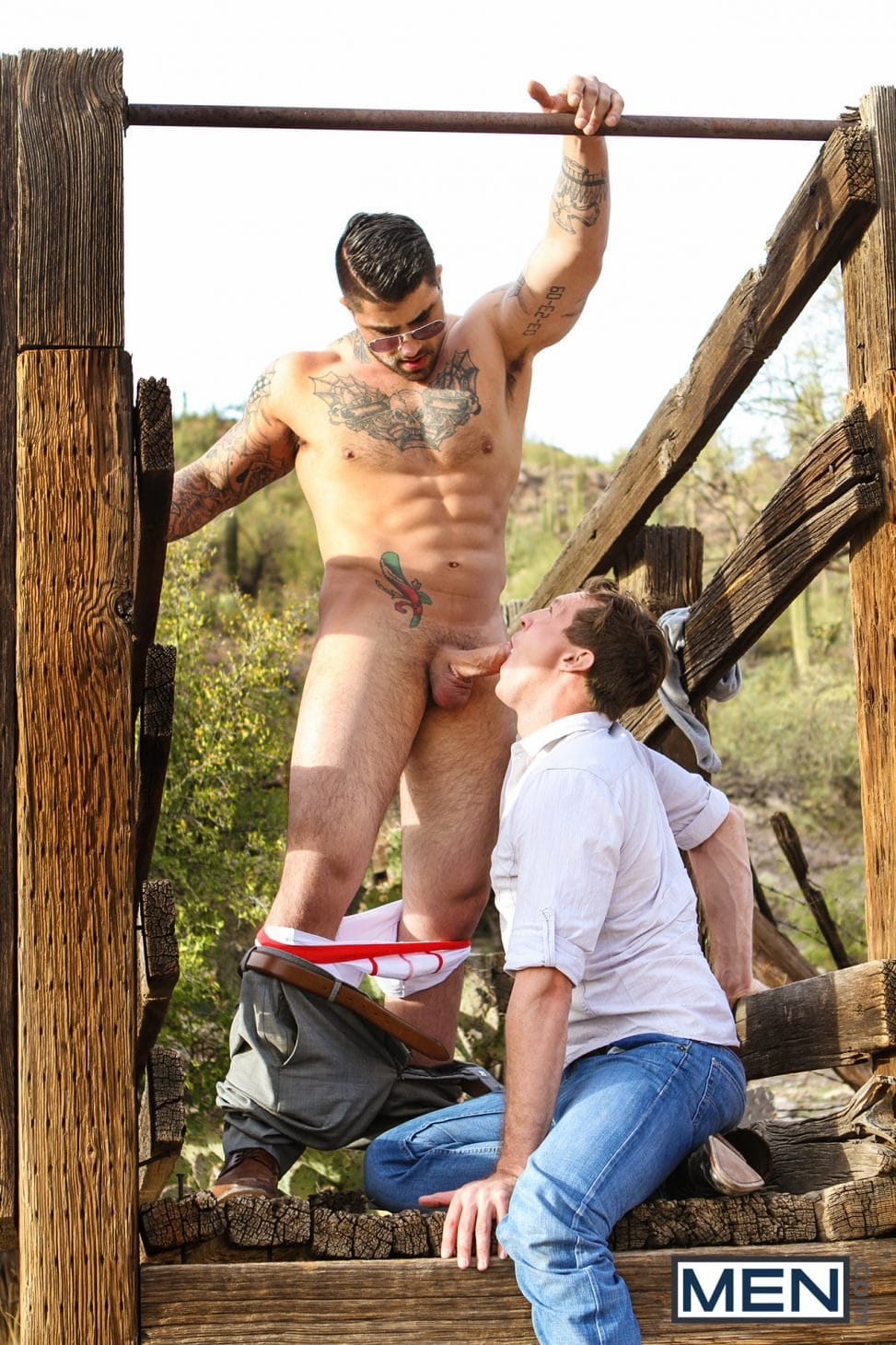 Gay Blowjob Outdoors